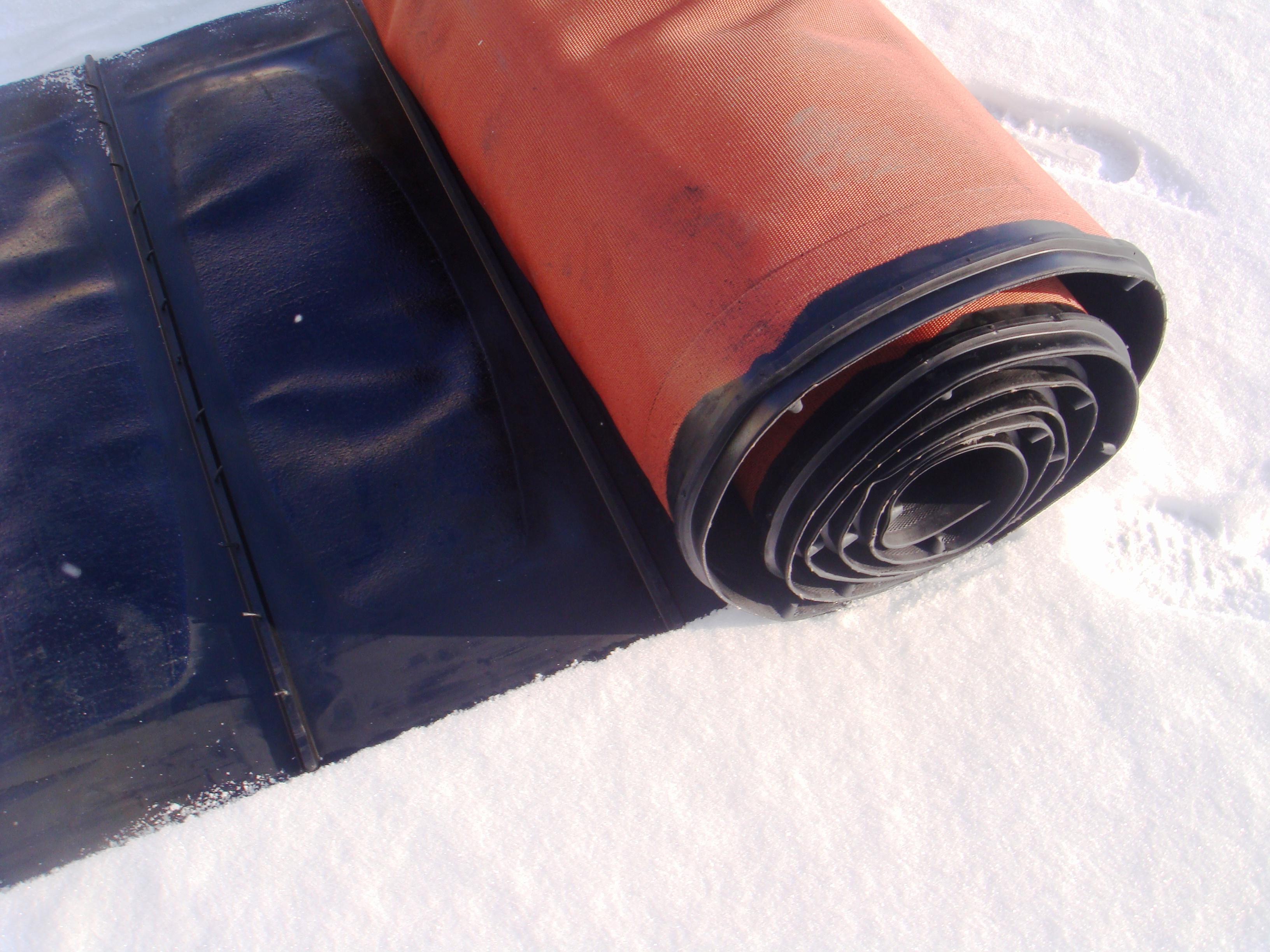 Лента на жатку Кейс с литыми поперечными планками, с 1 направляющей 1050х8500